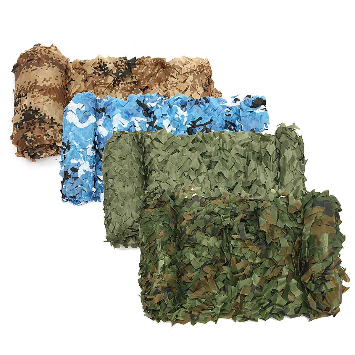4m*2m Hunting Military Camouflage Nets Woodland Army Camo netting Camping Sun ShelterTent Shade sun <font><b>shelter</b></font>