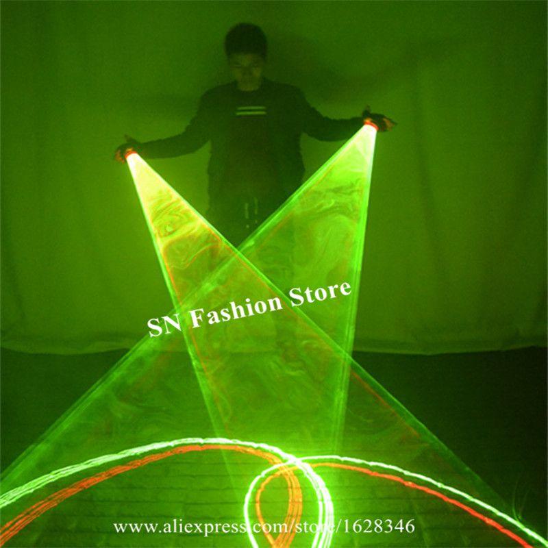 SJ84 Ballroom dance laser swirl handschuhe party bühne zeigen trägt led kostüm dance zeigen dj leistung laser beleuchteten disco grün ds