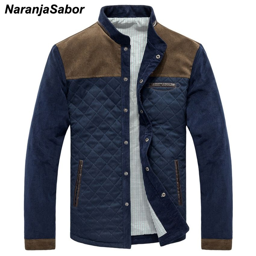 NaranjaSabor Spring Autumn New Men's Casual Jackets Solid Men Patchwork Slim Fit Coats Male Tracksuit Mens Sportswear Men Brand