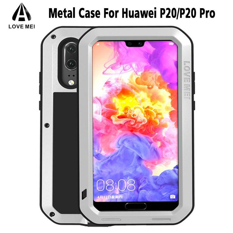 Love Mei HUAWEI P20 Pro Case Powerful Metal Shockproof Gorilla Glass Full Phone Case For Huawei P10 P20 P20 Pro Funda