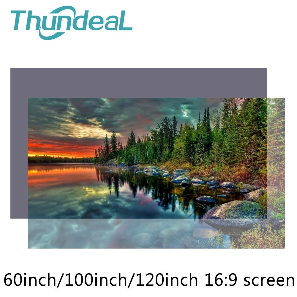High Brightness Reflective Projector Screen 60 100 120 inch 16:9 Fabric Cloth Screen for Espon BenQ XGIMI Projector Home Beamer