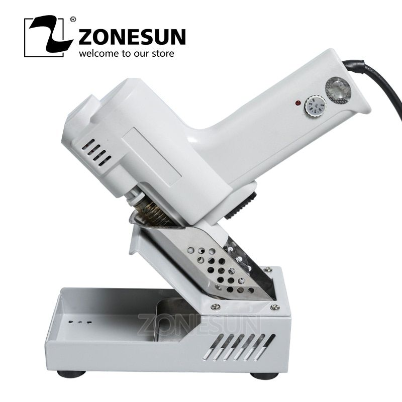 ZONESUN 110V 220V Electric Vacuum Desoldering Pump Solder Sucker Gun Heating Core Suction Tin S-993A Torch Core Iron Core 90W