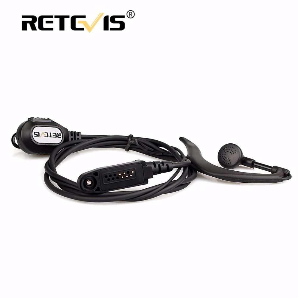 New Black G-Shape Ear Hook Microphone Walkie Talkie Retevis RT82 Earpiece for Retevis RT82 Dual Band DMR Digital Two way radio