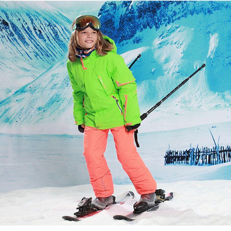 -20-30 grad Im Freien Kinder Kleidung Winter Ski Anzug Winddicht 5000ski Jacken hose Kinder Winter Schnee Mädchen Kleidung jungen Kleidung