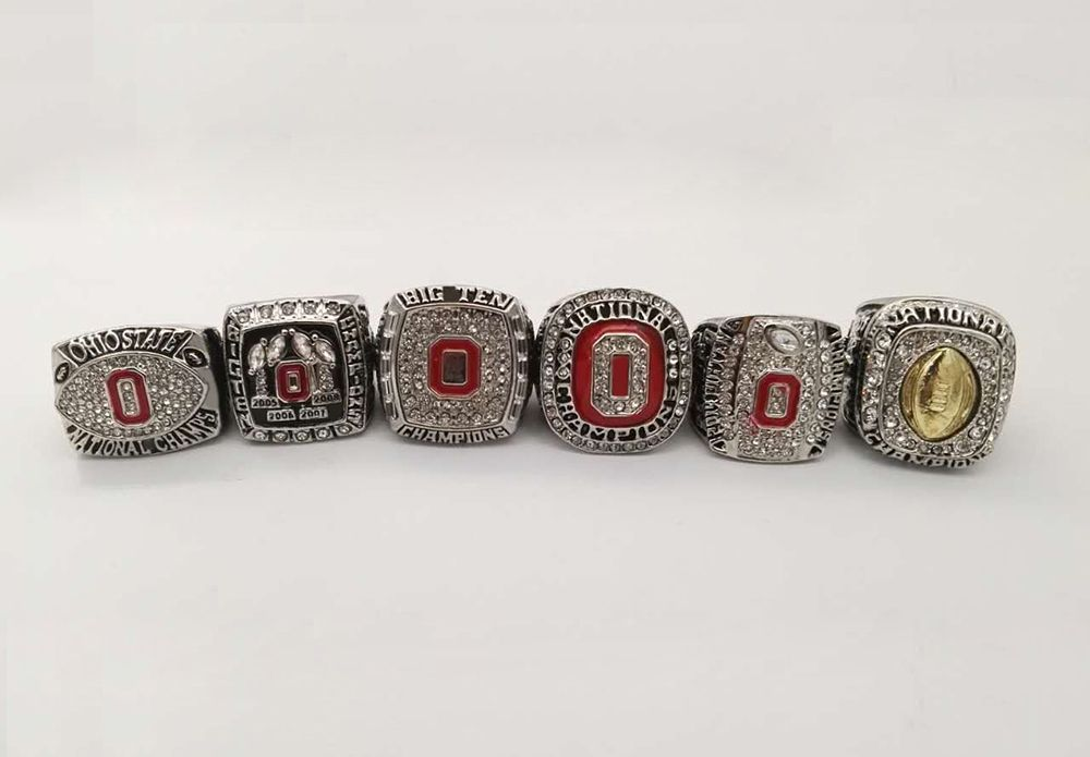 Factory Direct Sale New Arrival Drop Shipping For 2002 2008 2009 2014 2014 2015 OHIO STATE BUCKEYES Championship Rings
