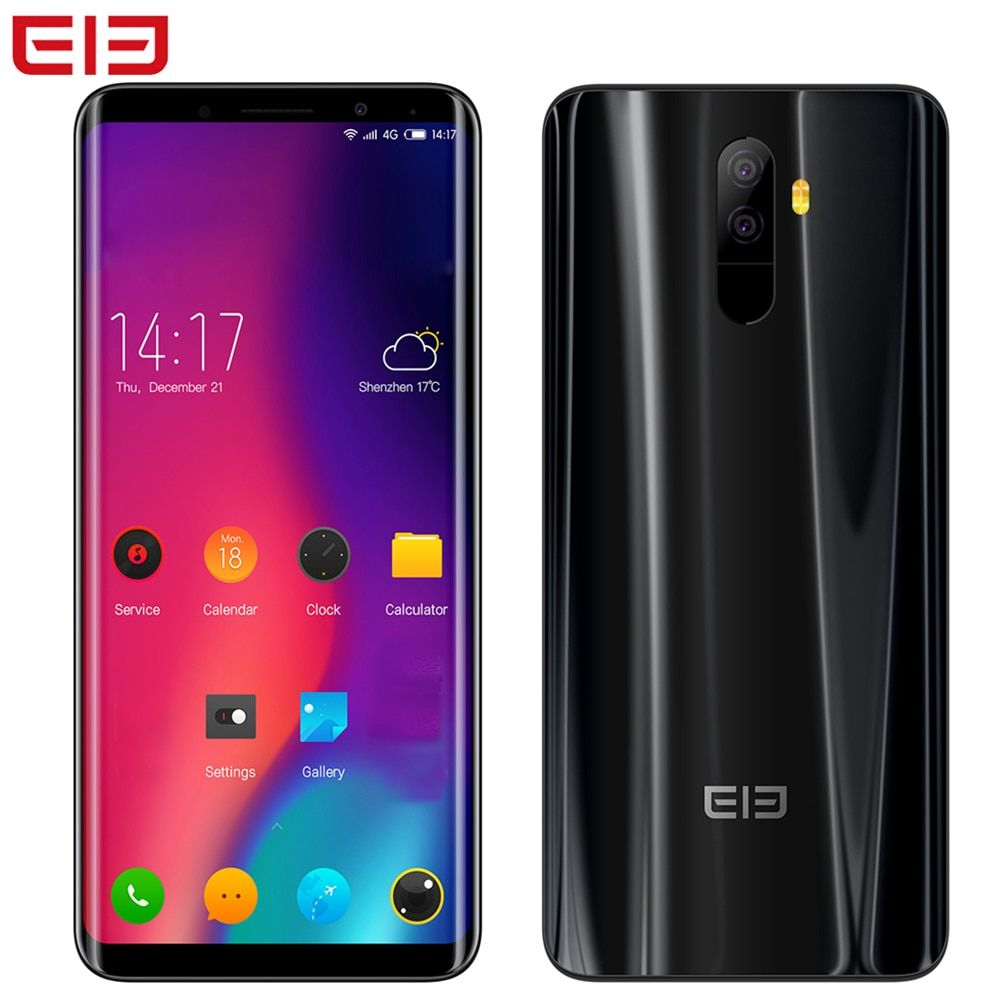 Elephone U Pro 5.99'' Face ID 6GB+128GB Android 8.0 13MP Qualcomm Snapdragon 660 Octa Core 2.2GHz Dual Rear Cams 4G Mobile Phone