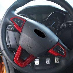 Carmilla ABS Chrome Mobil Roda Kemudi Dekorasi Potong Stiker untuk Ford Fokus Baru 3 4 MK3 MK4 2015-2017 2018 Aksesoris