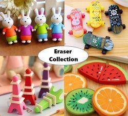 1 pack/lote encantadora borrador de lápiz moda colección regalo niños juguete Puzzle aprendizaje del estudiante papelería de oficina