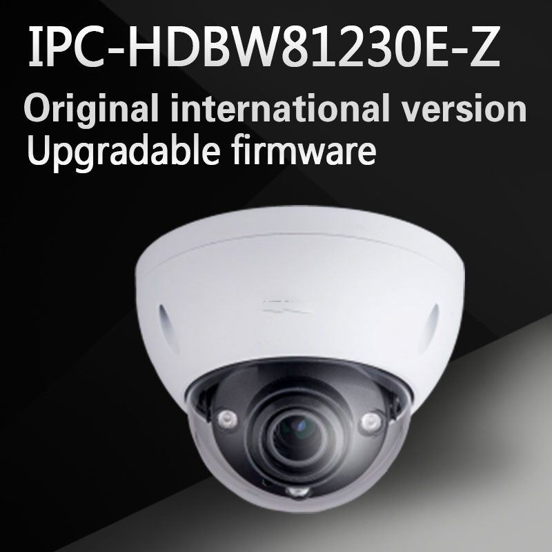 New Arrival 4k 12MP Dahua IP Camera IPC-HDBW81230E-Z IR Dome Camera motorized lens Support POE and SD card without logo