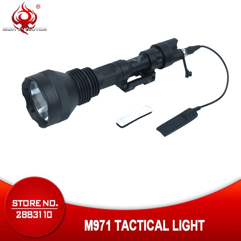 Nacht Evolution Airsoftsport TAKTISCHE SUPER HELLE 600 Lumen Waffe Gun LICHT M971 LED Taschenlampe Für Jagd Handheld NE04013