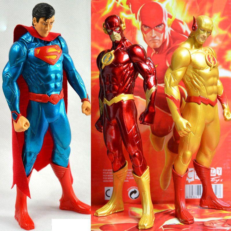 DC la nouvelle ligue de Justice JLA super-héros le Flash Barry Allen PVC figurine d'action Superman modèle Collection jouet cadeau