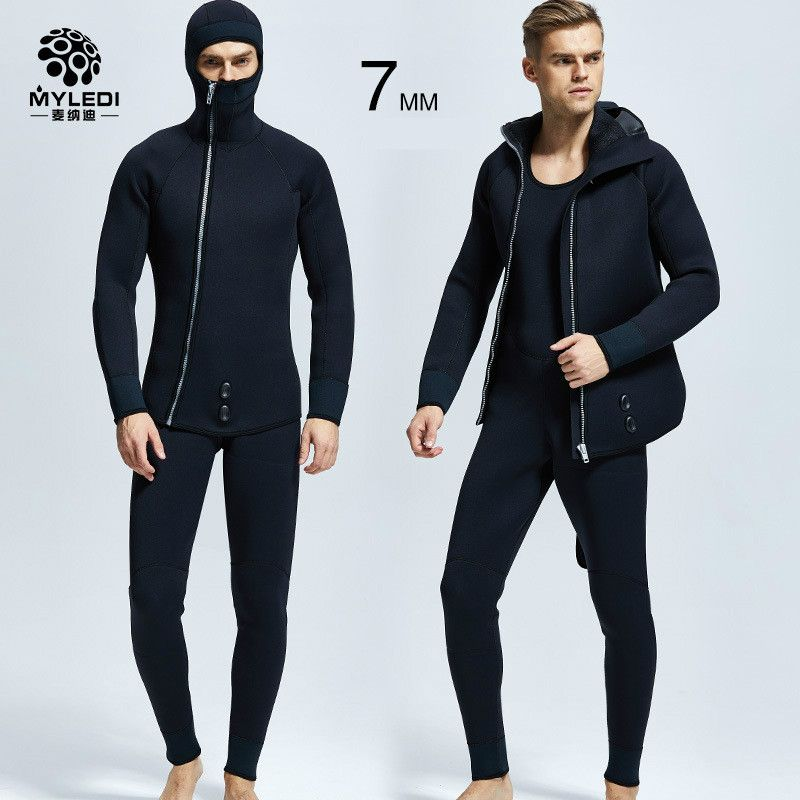 5MM diving suit two pieces of rubber scuba diving suit waterproof and warm diving suit men