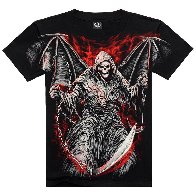 Hommes t-shirts mode nouvel été hommes porter coton à manches courtes T-shirt décontracté 3D impression Rock T-shirt pour homme complet imprimé