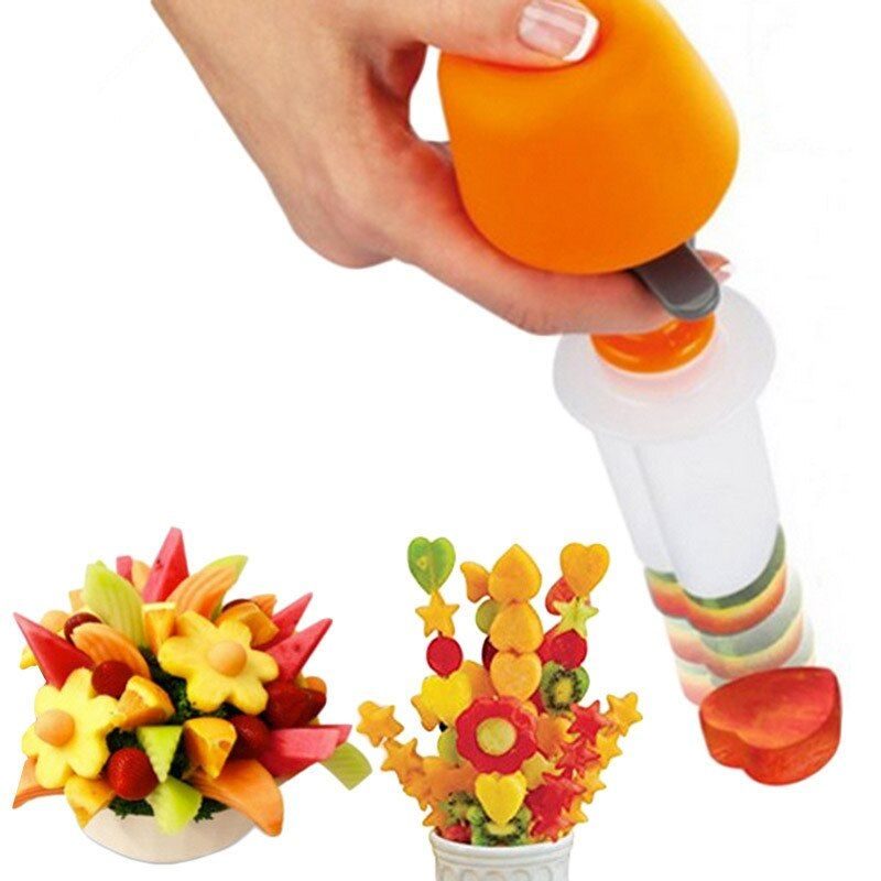 Gâteau en plastique Cookie légumes fruits forme Cutter trancheuse légumes moule ensemble bricolage outils de décoration accessoires de cuisine