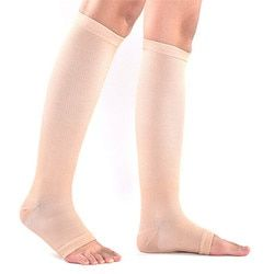 New Elastic Toeless Compression Socks Stockings Support Knee High Tip Open