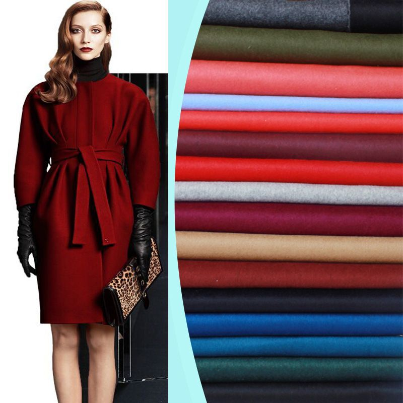 17 colors double-sided cashmere fabric autumn and winter special thickening coat wool fabric export cashmere fabric wool cloth