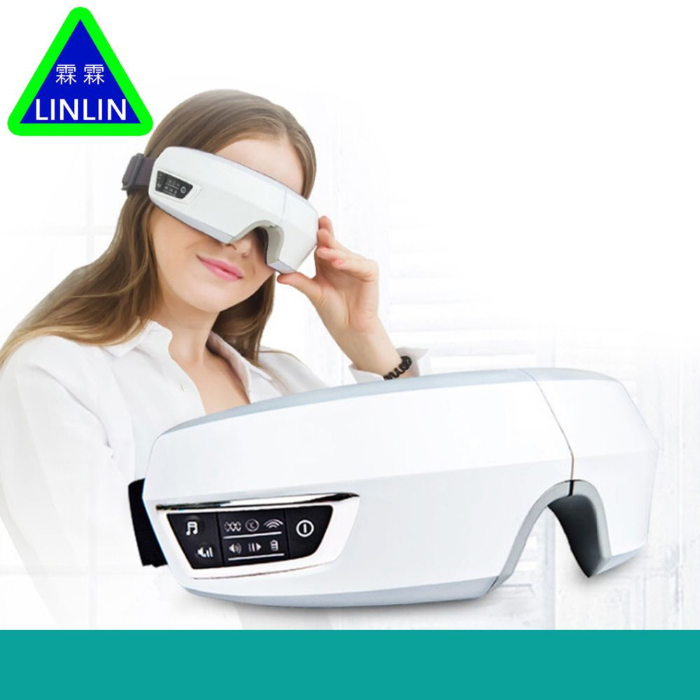 Electric Air pressure Eye massager with mp3 functions.Wireless vibration eye magnetic far-infrared heating.Eye care