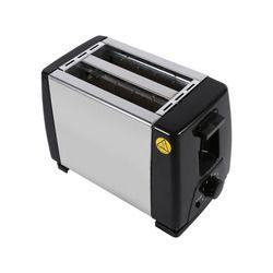 Nouveau 2-slice Toaster Grille-Pain En Acier Inoxydable Machine 750 W Électrique pour le Petit Déjeuner Ménage Pain de Cuisson de Haute Qualité