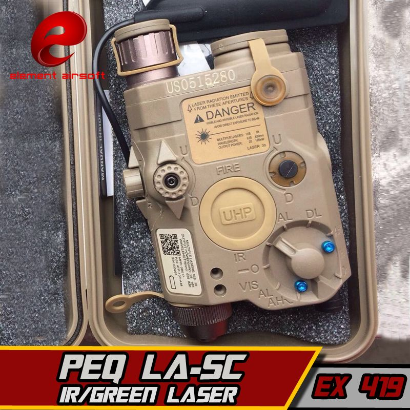 Element LA-5C PEQ UHP 15 Grün IR Laser Lampe Softair Taschenlampe Für Jagd IPSC Tactical Armamento Airsoft Arme Gewehr Lichter