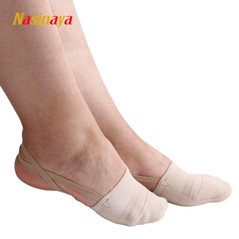 Gymnastique rythmique orteil chaussures doux demi chaussettes tricoté Roupa Ginastica compétition professionnelle semelle protéger élastique couleur de la peau