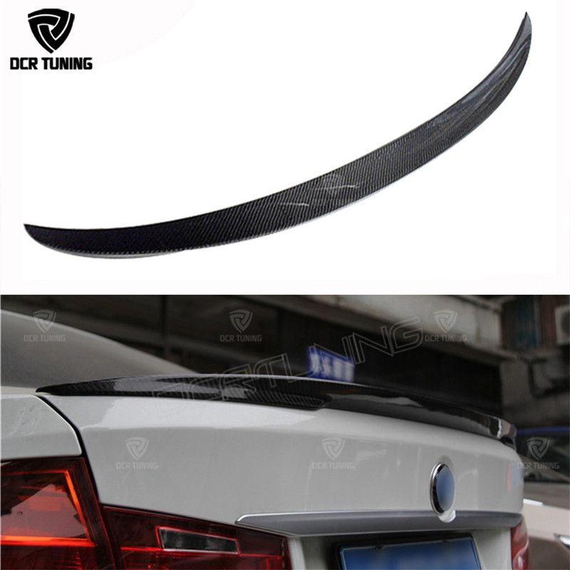 P Style For BMW F30 F80 M3 Spoiler Carbon Fiber Material M Performance Style 2012 - up 320i 328i 335i 326D F30 Carbon Fiber