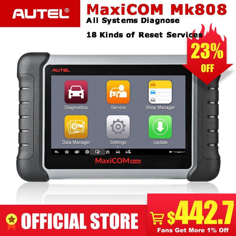 Autel MaxiCOM MK808 OBDII Automotive Scanner IMMO EPB SAS BMS TPMS DPF Service diagnose werkzeug MD802 Alle System + MaxiCheck pro