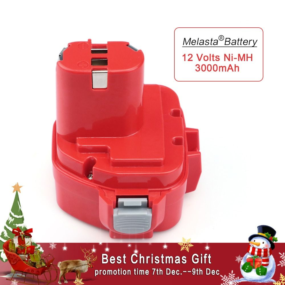 MELASTA <font><b>Upgrade</b></font> 12v 3000mAh NIMH Replacement Battery for Makita 1220 PA12 1222 1233S 1233SA 1233SB 1235 1235A 1235B 192598-2