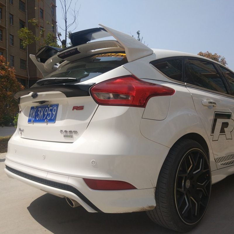 For Ford Focus Sports Edition Spoiler High Quality ABS Material Rear Spoiler Ford Focus Spoiler 2012-2017