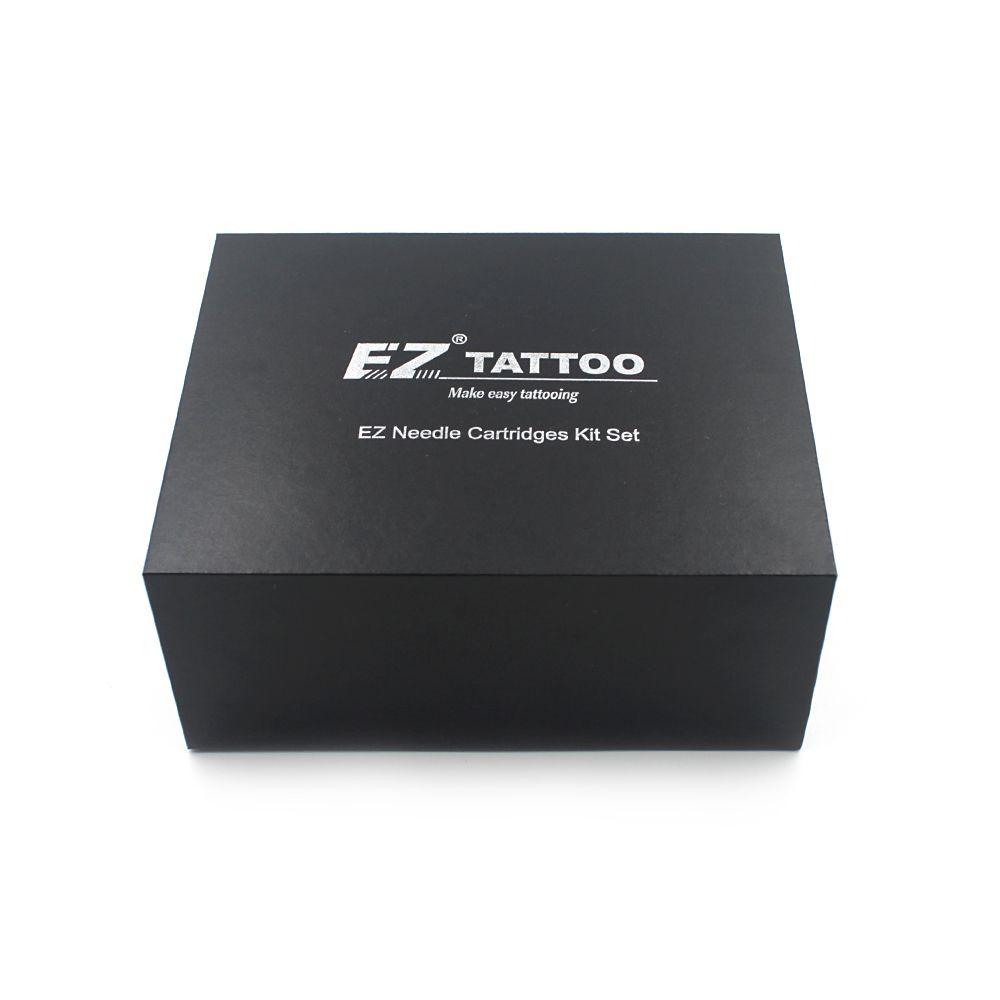 100 pièces assorties EZ cartouche aiguilles de tatouage avec 4 Tubes jetables noirs et 2 aiguilles à aiguilles cartouche d'aiguilles de tatouage