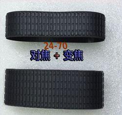 2 Pieces a set Lens Zoom + Focus Grip Rubber Ring For Nikon NIKKOR 24-70MM 24-70 1:2.8 G f/2.8G ED