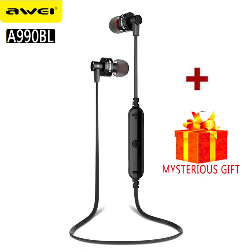 Awei A990BL Sport Blutooth Auriculares Bluetooth Earphone For Your Ear Phone Headset Cordless Wireless Headphone Earpiece Earbud