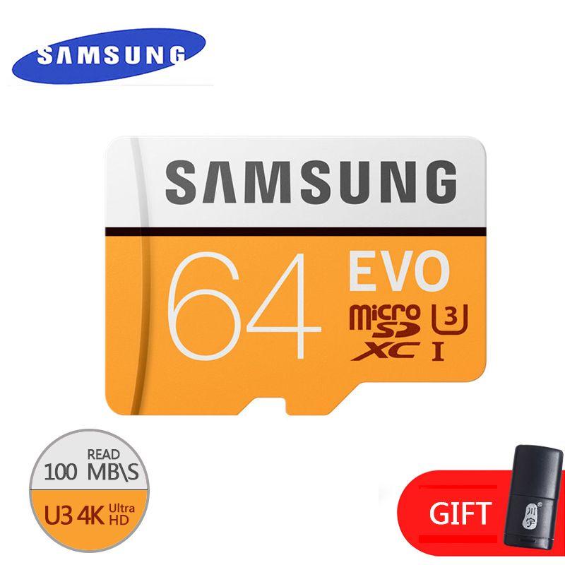 SAMSUNG Original mémoire micro carte sd 16 GB/32 GB/SDHC 64 GB/SDXC Class10 EVO TF carte cartes Flash véritable sécurité livraison gratuite