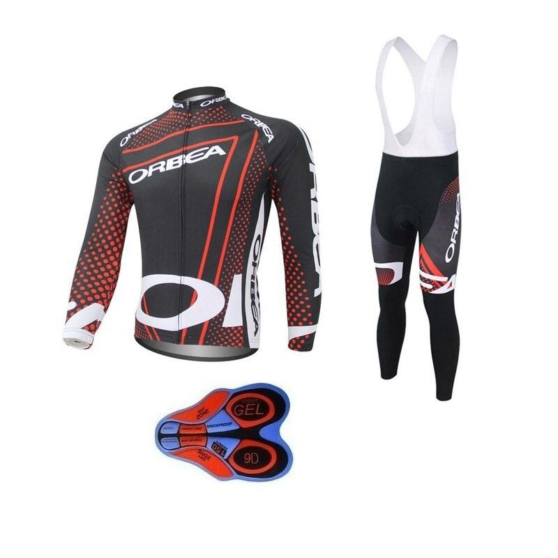 2017 Team ORBEA Long Ropa Ciclismo Cycling Jerseys sets Autumn Mountian Bicycle Clothing MTB Bike Clothes For Man 9D +12 style