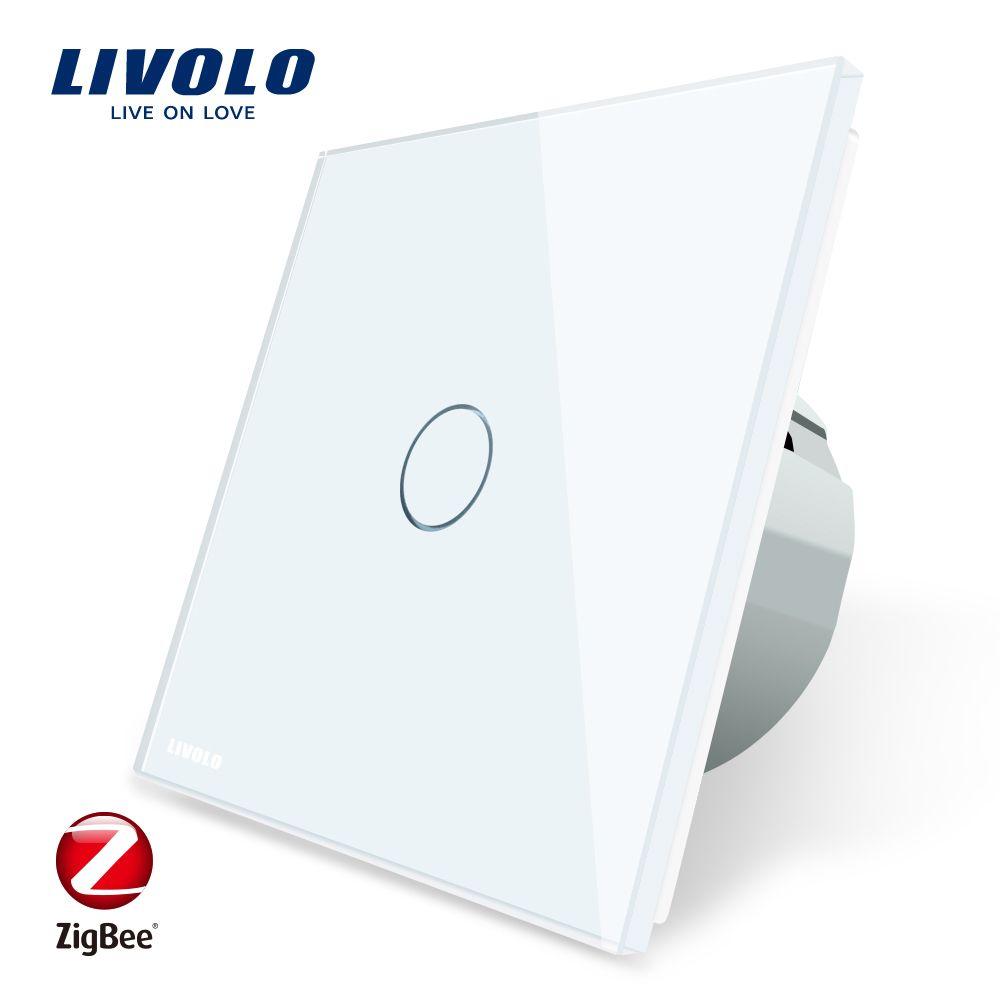 Livolo EU Standard Zigbee Smart Home Wall Touch Switch, Touch/WiFi/APP Control, Works with Alexa,Only work with Livolo gateway