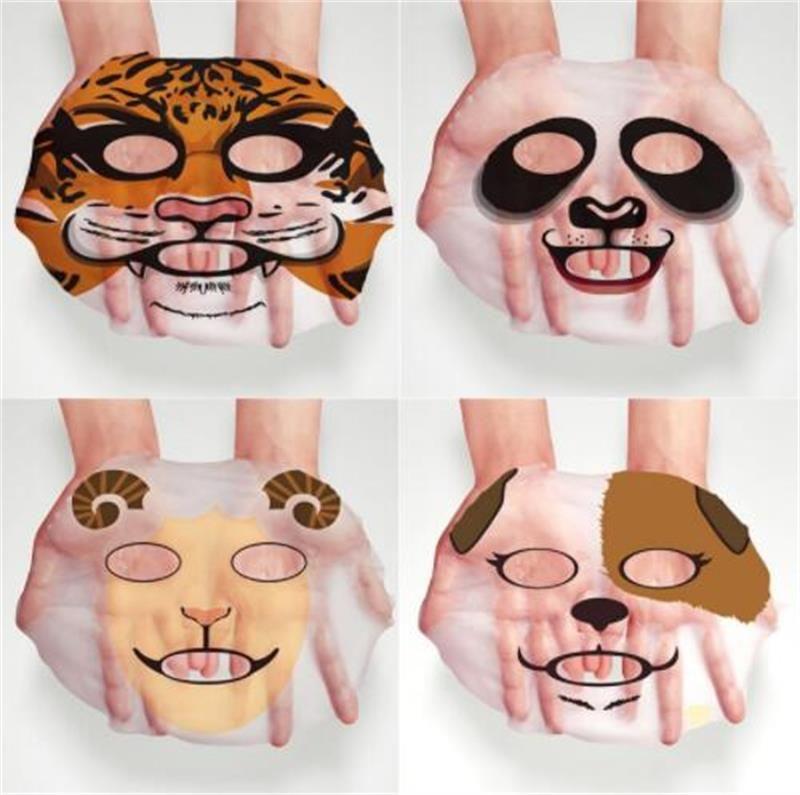 BIOAQUA 1 pcs Skin Care Sheep/Panda/Dog/Tiger Facial Mask Moisturizing Cute Animal Face Masks