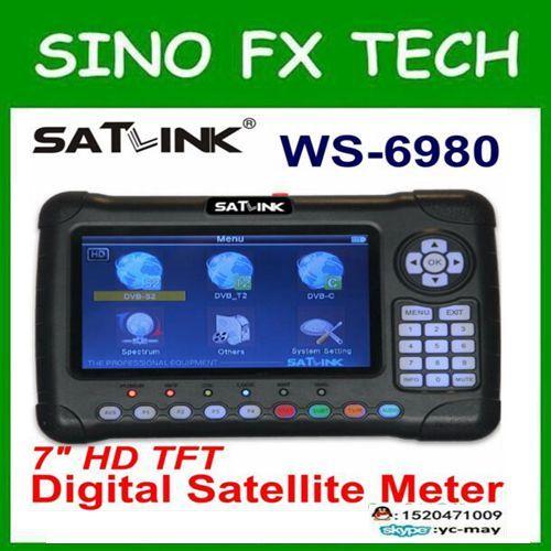 Satlink latest WS6980 DVB-S2+DVB-C+DVB-T2 COMBO combo satellite finder ws-6980 for tv signal