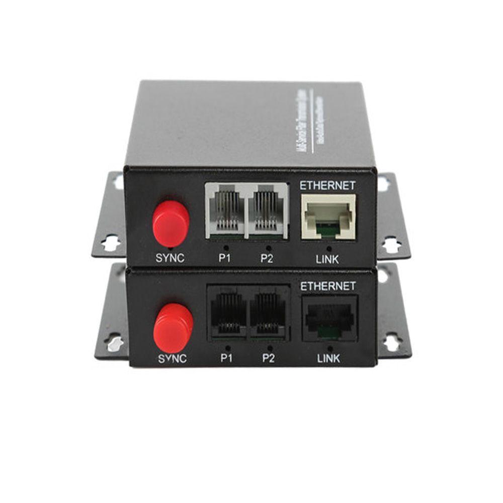 Convertisseur de médias optiques de Fiber de téléphone de voix de PCM de 2 canaux de haute qualité avec le mode unique d'ethernet FC 20Km