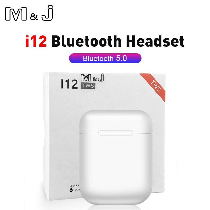 Mini i12 TWS Wireless Headphone Bluetooth 5.0 Sport Earphone Earbud Touch Magnetic Charging Box PK i20 i30 for redmi airdots