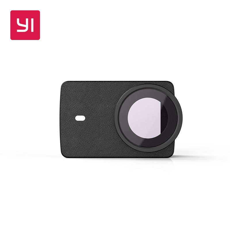 YI Protective Lens and Leather case Black for 4K Plus Action Camera