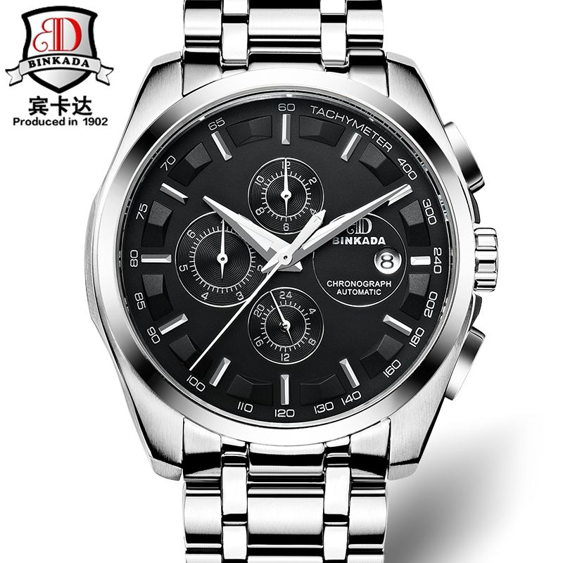 Automatic watch mens mechanical  brand luxury BINKADA orologi tourbillon clock men sports watch swiss military automatik watch