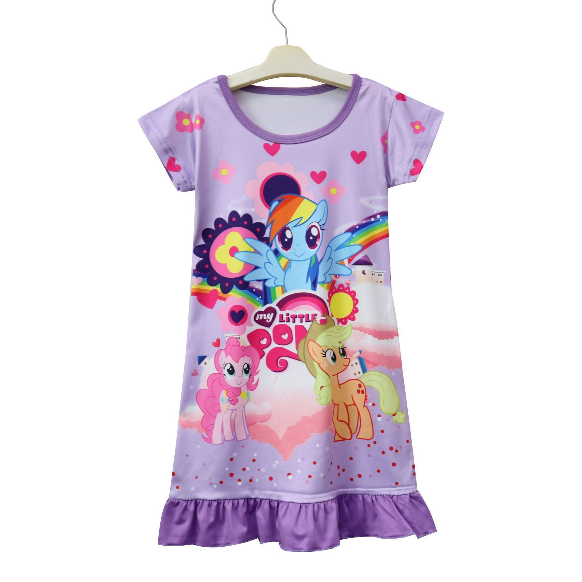 2018 summer cartoon My cute Girl Dress little ponys dresses Children Kids pajamas baby girls dresses Brand Girl Nightdress