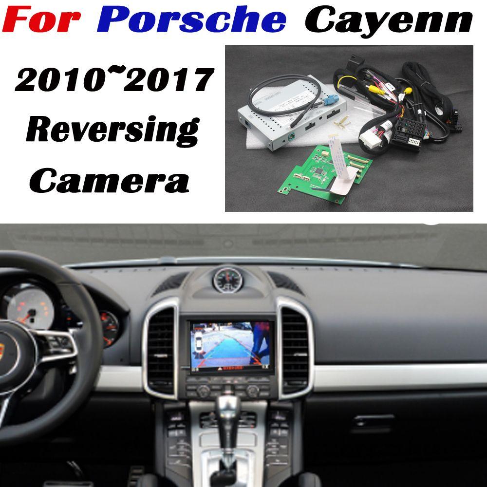 Rückfahr Kamera Für Porsche Cayenn 2010 ~ 2017 Verbinden Original Bildschirm Display Parkplatz rückansicht kamera MMI Decoder