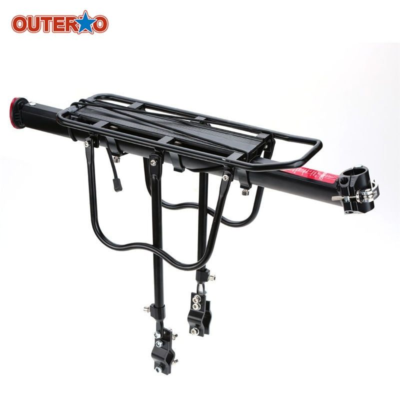 OUTERDO Aluminum Alloy Bicycle Racks Bicycle Luggage Carrier MTB Bicycle Mountain Bike Road Bike Rear Rack Install Component