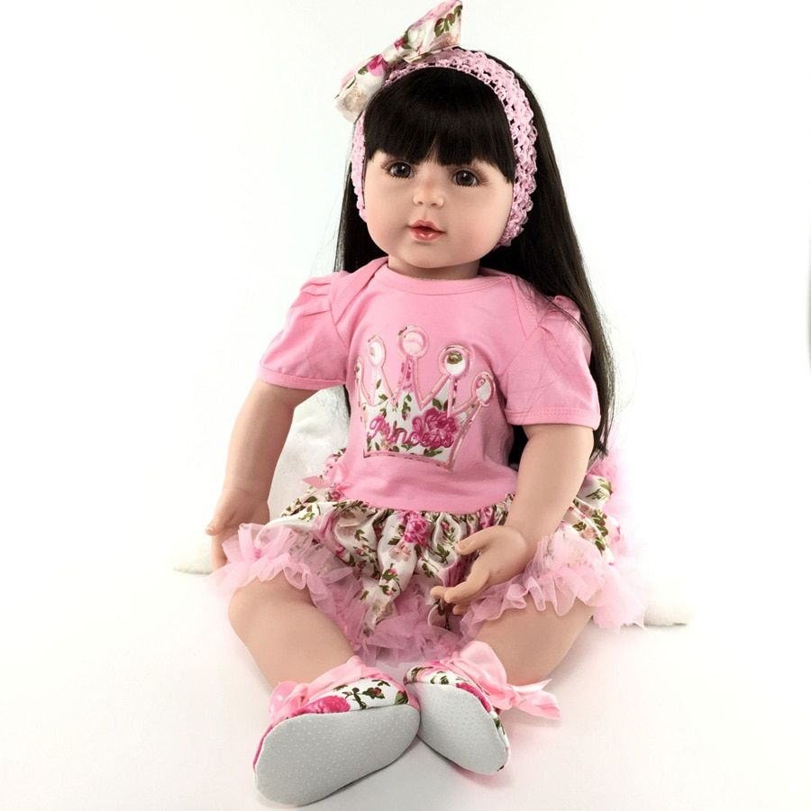 55cm Silicone reborn baby doll play house princess doll lifelike birthday gifts present collectable dolls bedtime vinyl doll toy