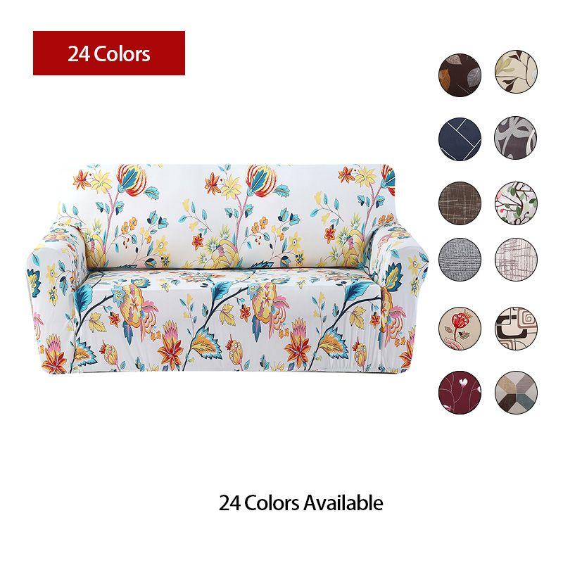 Housse de canapé à fleurs housse de canapé étanche tout compris simple/double/trois/quatre places housse de canapé élasticité housse de canapé 1pc
