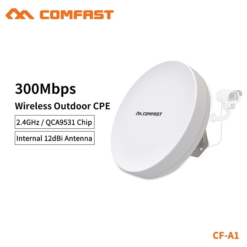 COMFAST WIFI Router Outdoor CPE Wireless Repeater 300mbps Router Bridge WIFI Repeater For Long Range IP Camera Project  CF-A1