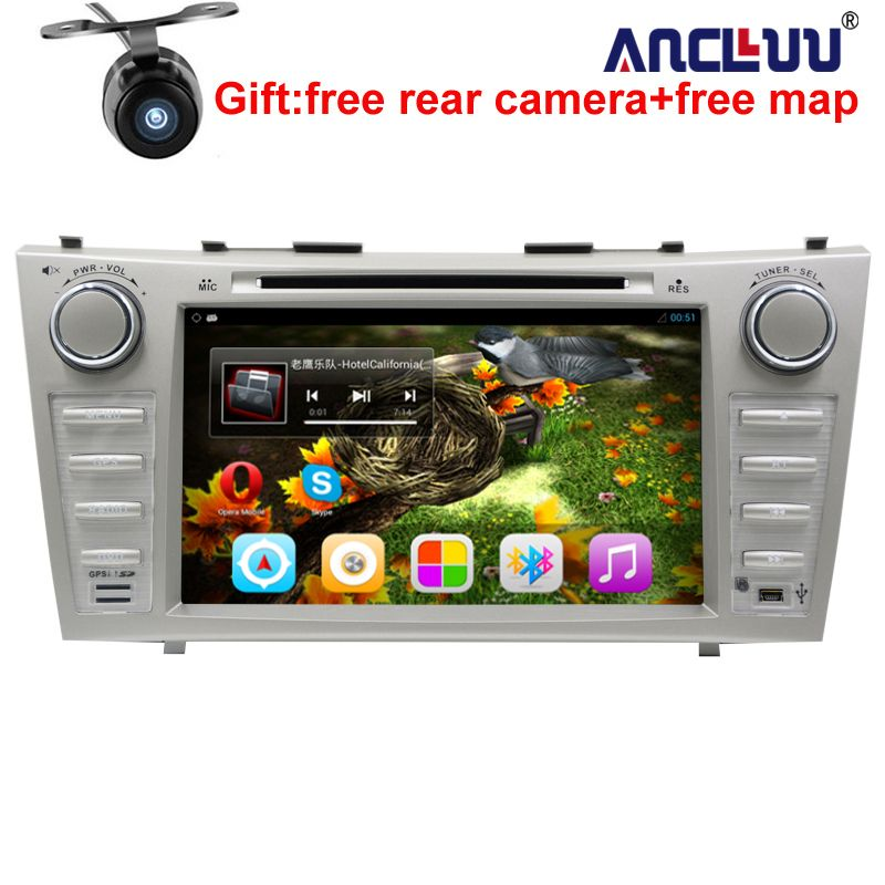 1024*600 2 Din <font><b>Quad</b></font> Core 8 Android 7.1 Car DVD GPS Navigation For Toyota Camry 2007 2008 2009 2010 Head Unit Car Stereo radio