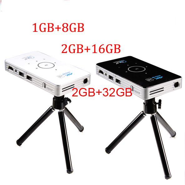 Tasche projektor 4 k dlp mini C6 projektor 50 lumen Android 6.0 quad core dual band wifi Bluetooth pico projektor
