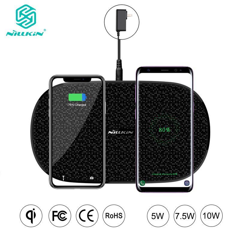 Chargeur sans fil double 2 en 1 rapide NILLKIN pour Xiaomi 9 Mix 2 S Qi Pad pour Samsung Galaxy S10 5G S10 + S10e pour iPhone XS Max Xr X