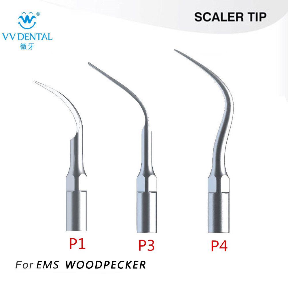 3 pcs/lot Détartreur Dentaire à ultrasons P1 P3 P4 Ajustement EMS/PIC Parfait Blanchiment Des Dents Outils Dentaires pour le détartrage